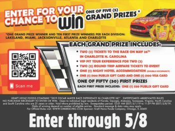 New Sweepstakes: Enter To Win An Amazing Race Experience + Stock Up On Amazing Deals On Your Favorite Kraft Heinz Brands from # Deals Sweepstakes on I Heart Publix 1