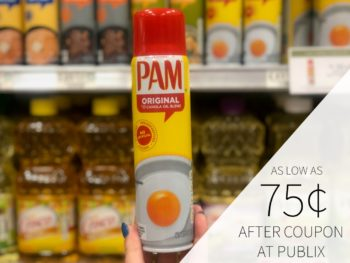 PAM Oil Spray As Low As 75¢ At Publix on I Heart Publix