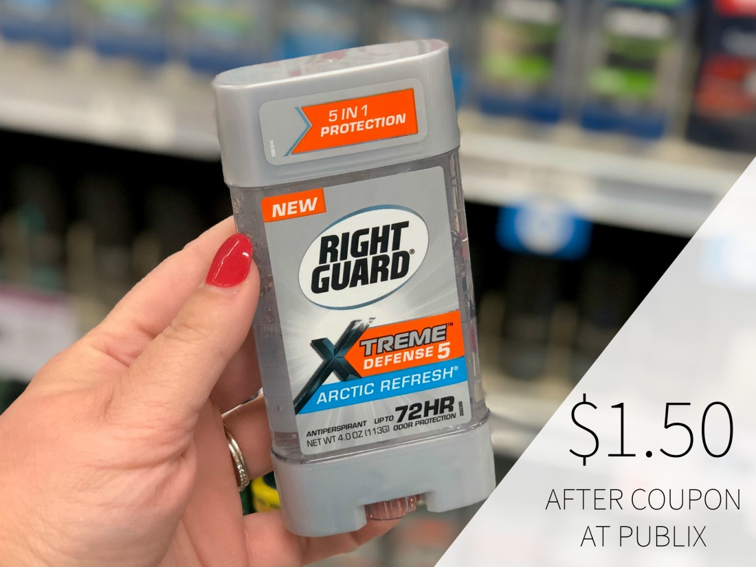 New Right Guard Xtreme Defense Coupon - Just $1.50 At Publix on I Heart Publix
