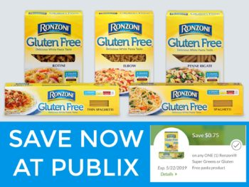 Get Savings On Ronzoni®Gluten Free Pasta At Your Local Publix - Load Your Coupon! on I Heart Publix