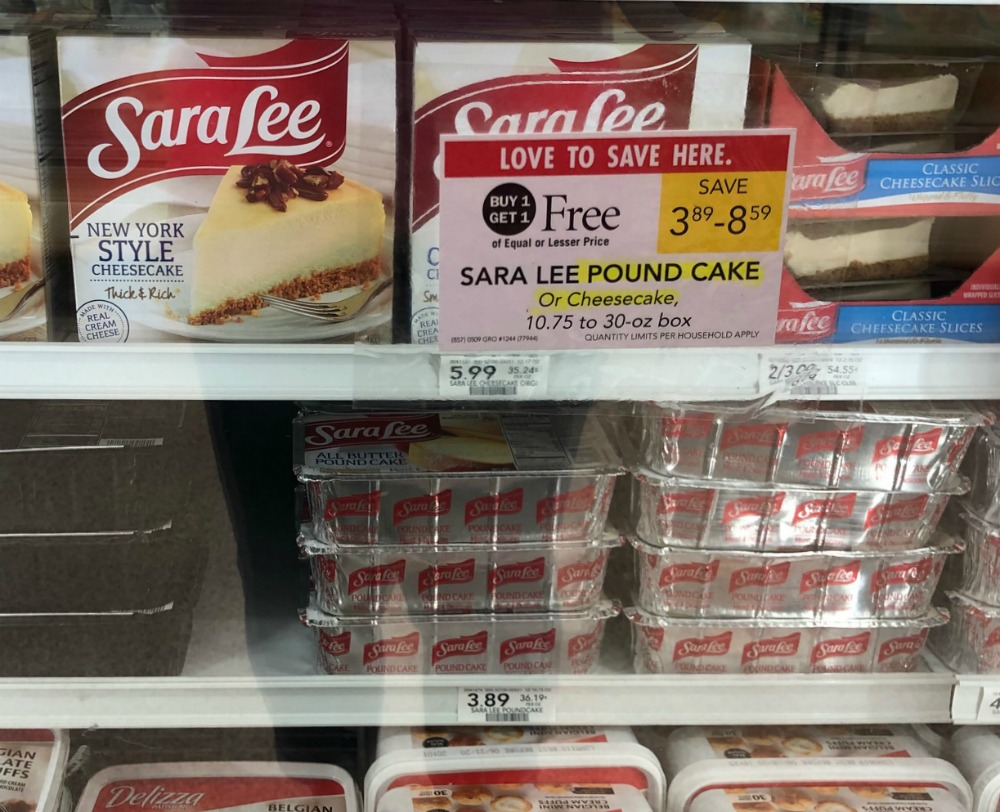 Sara Lee Pound Cake - As Low As $1.40 At Publix on I Heart Publix