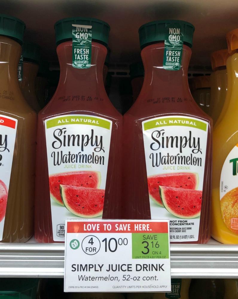 New Simply Watermelon Juice Coupon For Publix Sale on I Heart Publix