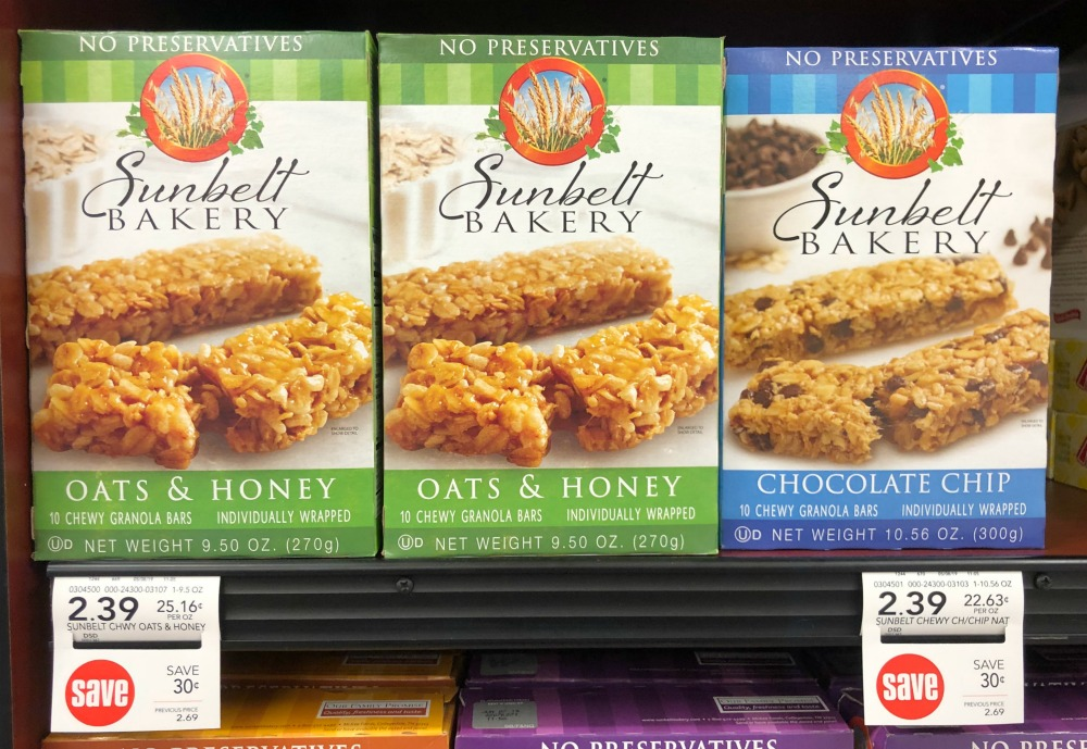 New Sunbelt Bakery Coupons For The Publix Sale - Granola Bars Just $1.39 on I Heart Publix