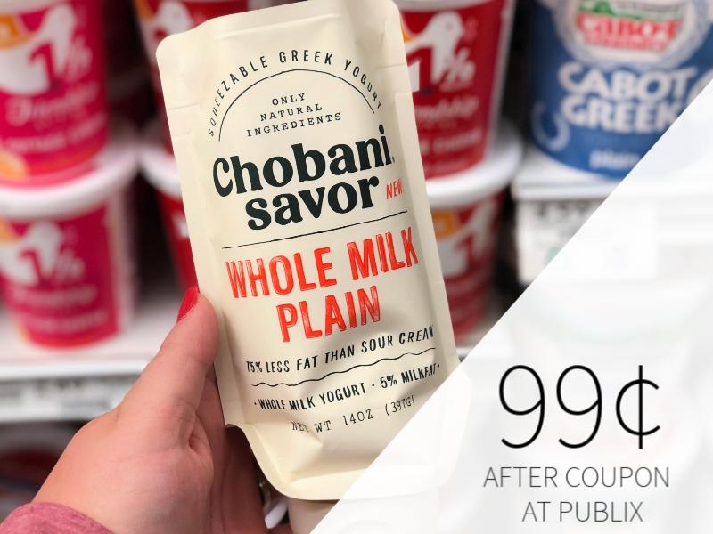 Chobani Savor Squeezable Greek Yogurt Only 99¢ At Publix on I Heart Publix 1