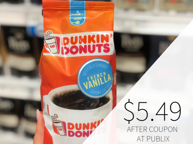 Dunkin' Donuts Coffee Only $5.49 At Publix on I Heart Publix