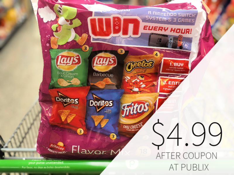 Frito-Lay Snacks Variety Pack Only $4.99 At Publix on I Heart Publix 1