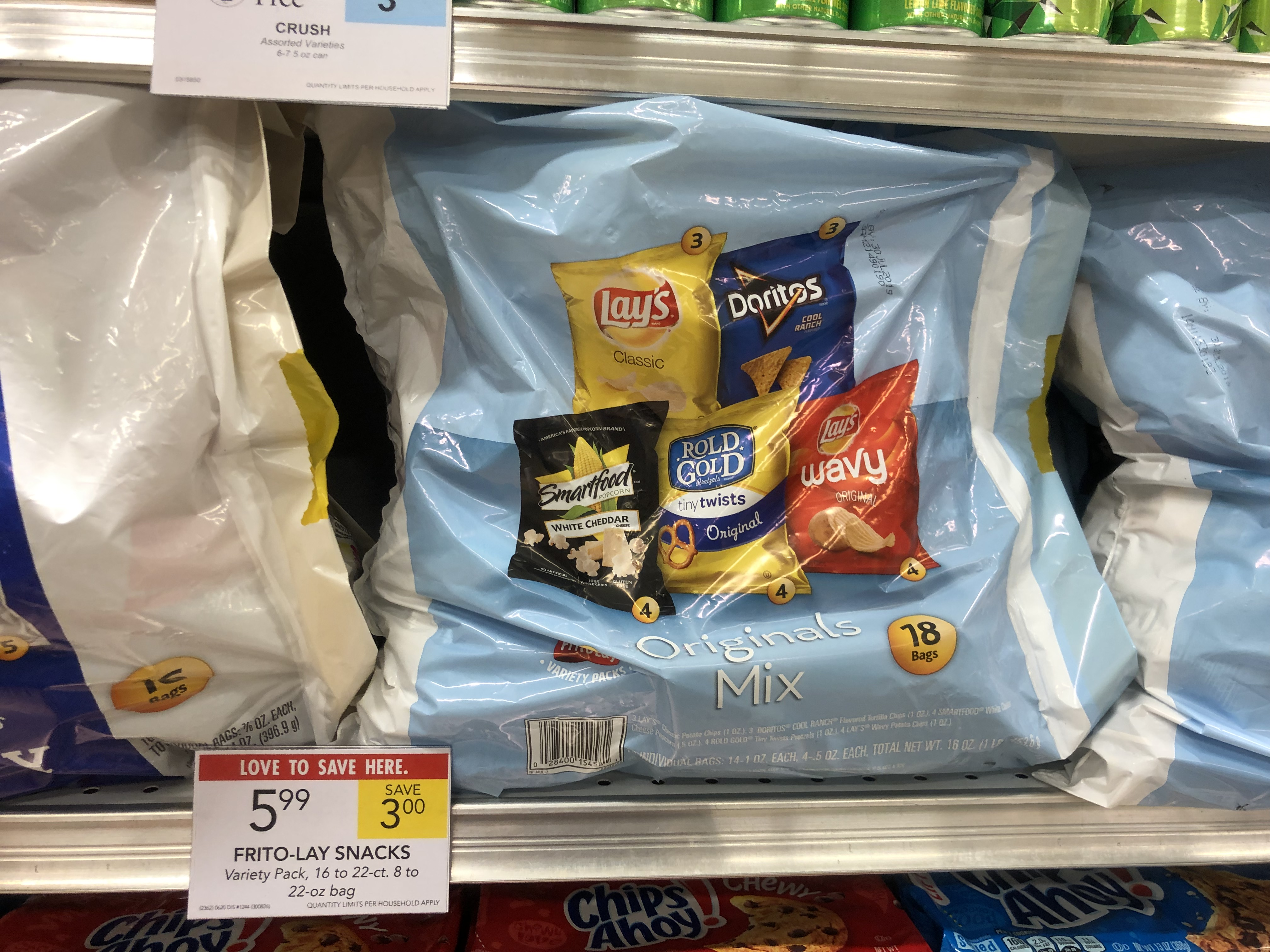 Frito-Lay Snacks Variety Pack Only $4 99 At Publix - Save $4