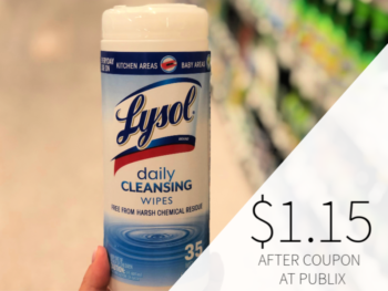 Lysol Wipes Only $ on I Heart Publix 1