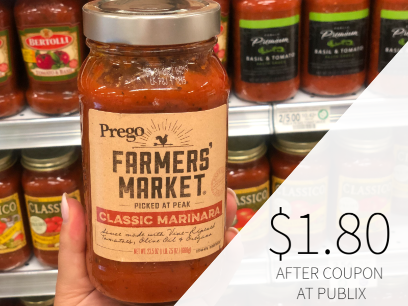 Prego Farmers' Market Sauce Only $1.80 At Publix on I Heart Publix 1