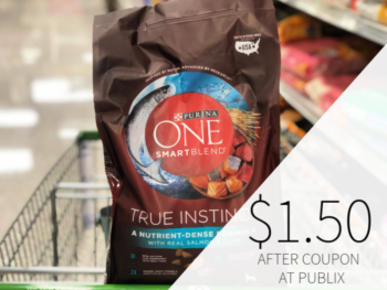 Purina ONE SmartBlend Adult Dog Food Only $1.50 At Publix on I Heart Publix