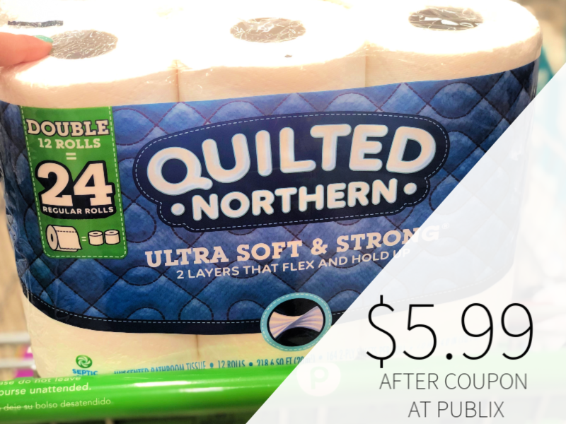 Quilted Northern Bathroom Tissue Only $5.9 on I Heart Publix