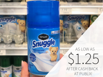 Renuzit Snuggle Automatic Spray As Low As $1.25 At Publix on I Heart Publix