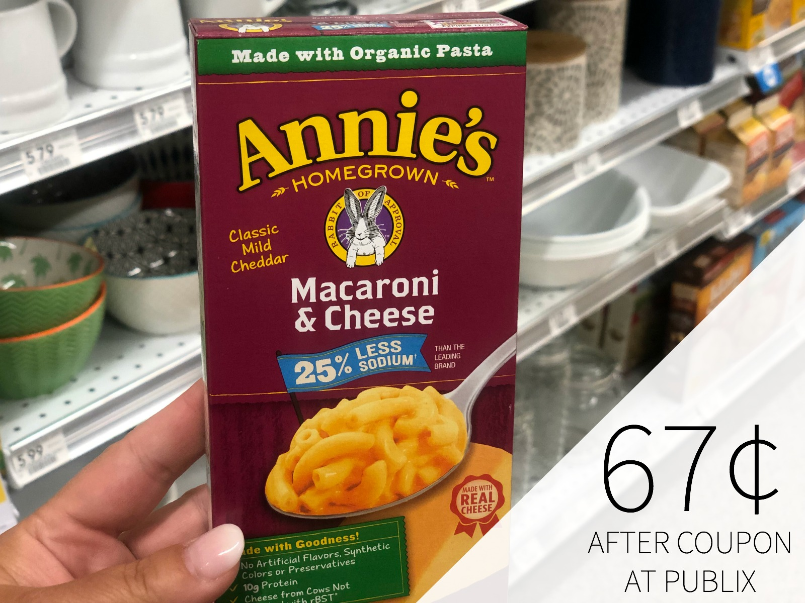 Annie's Homegrown Macaroni & Cheese As Low As 67¢ At Publix on I Heart Publix