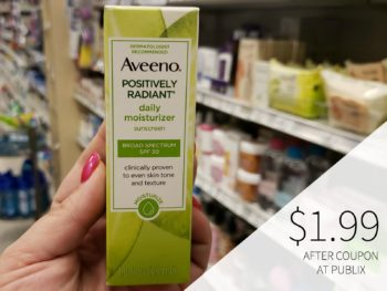 Aveeno Positively Radiant Daily Moisturizer Sunscreen Only $2.99 At Publix on I Heart Publix