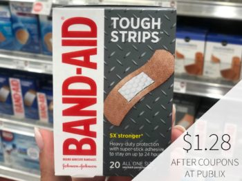 Band-Aid Tough Strips - Just $1.28 At Publix on I Heart Publix 1