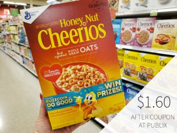General Mills Cheerios Cereal - Just $1.60 At Publix on I Heart Publix