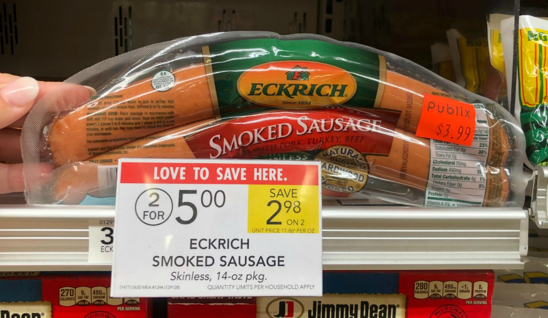 Eckrich Smoked Sausage Just $1.75 At Publix on I Heart Publix