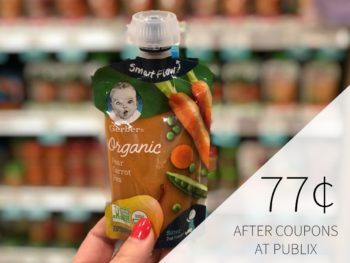 New Gerber Publix Coupons - Organic Pouches As Low As 77¢ on I Heart Publix
