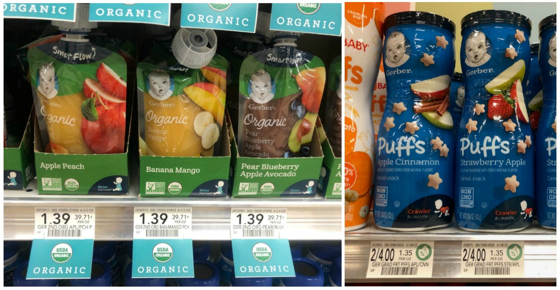 New Gerber Coupons Make Organic Pouches As Low As 77¢