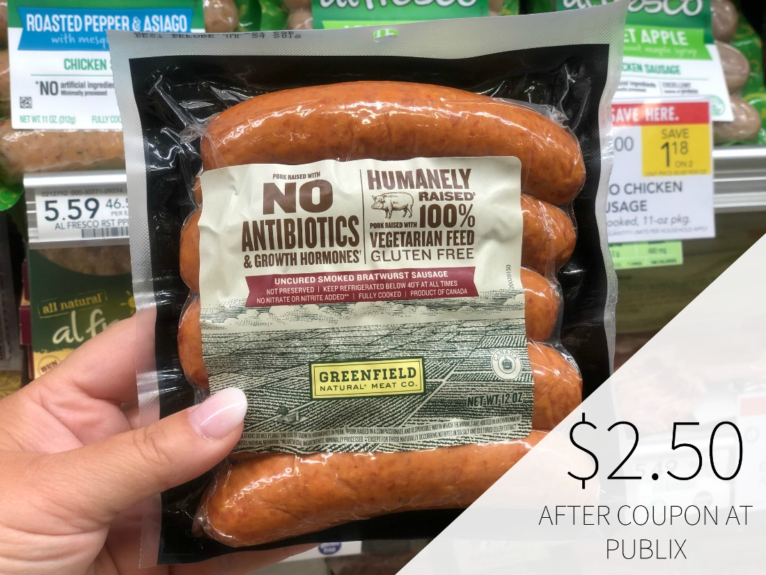 Greenfield Bratwurst Sausage or Hot Dogs Just $2.50 At Publix on I Heart Publix 1