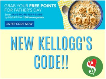 New Kellogg's Family Rewards Code - Add 100 Points To Your Account on I Heart Publix 2