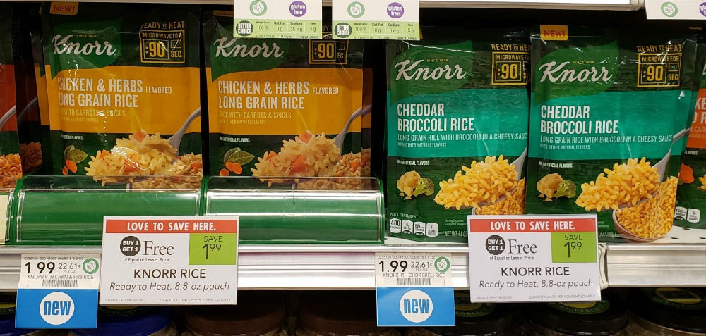 NEW Knorr Ready To Heat Rice On Sale Buy One, Get One FREE At Publix on I Heart Publix 1
