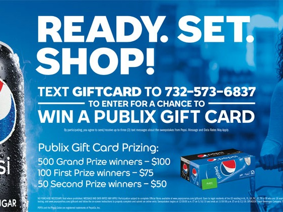 Another Sweepstakes For Publix Shoppers - Win Publix Gift Cards