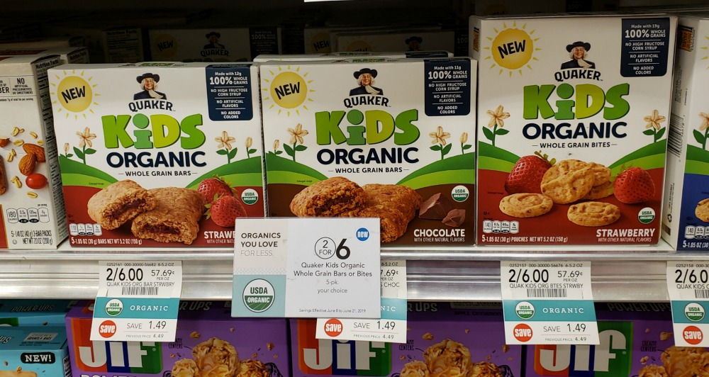 New Quaker Kids Organic Whole Grain Bars or Bites Coupon For Publix Sale - Just $2 on I Heart Publix