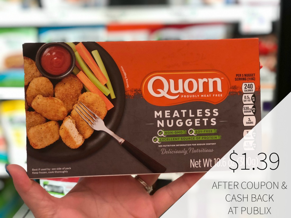 Quorn Meatless Coupon + Cash Back Offer = Chik'n Nuggets or Patties Just $1.39 on I Heart Publix 1