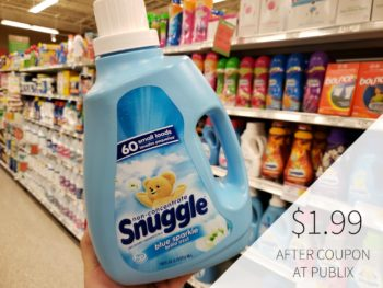 New Snuggle Fabric Softener Coupon For Publix Sale - Just $1.99 on I Heart Publix 1