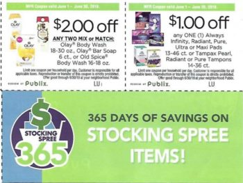 Look For Nice Publix Coupons In The P&G Insert Flyer (Expiring 6/30) on I Heart Publix 1