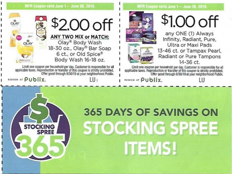 New Publix Coupons - Regional P&G Insert Flyer (Coupons Expire 6/30)