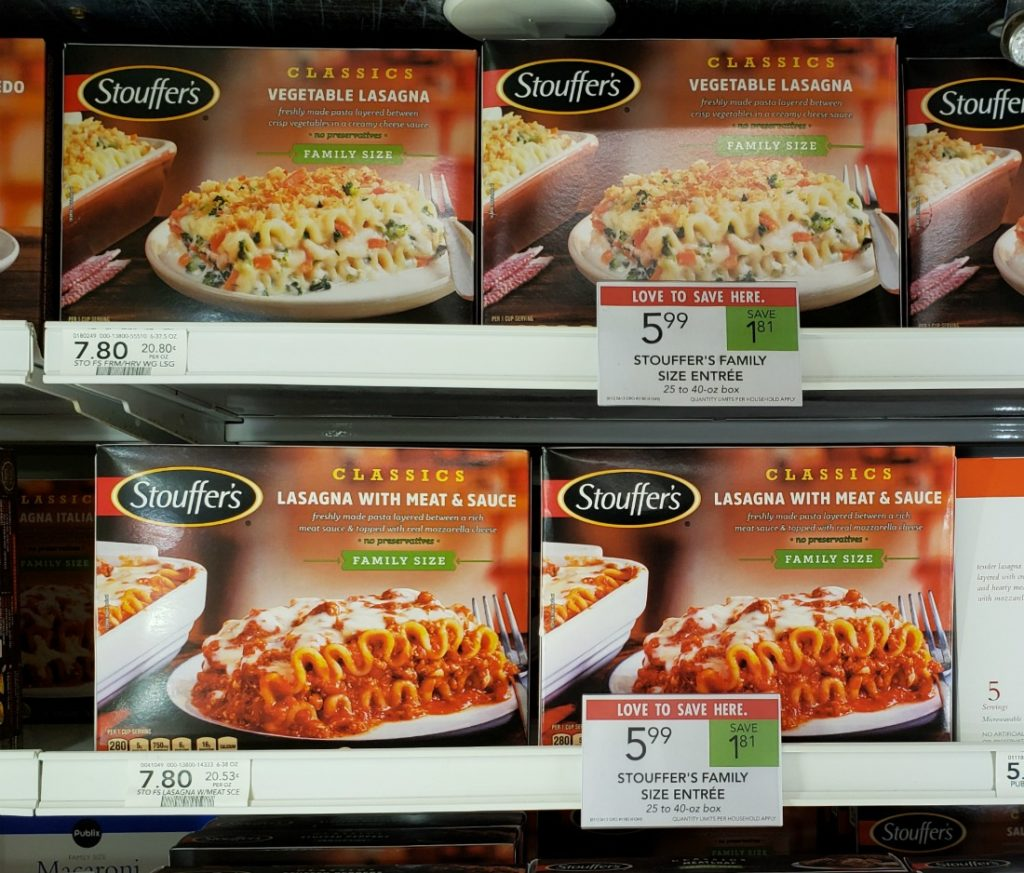 Great Deal On Stouffer's Family Size Entrees - Just $3.49 At Publix on I Heart Publix