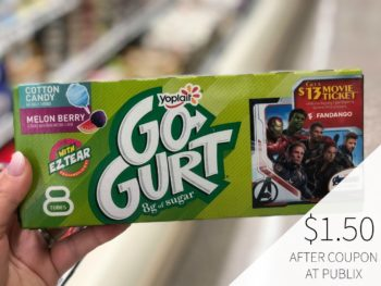 New Yoplait Go-Gurt Digital Coupon For Publix Sale on I Heart Publix 1