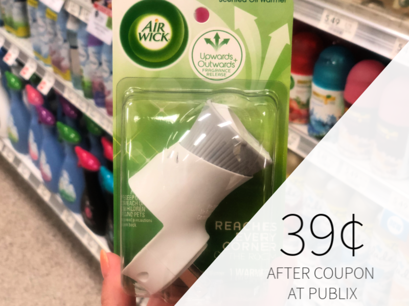 Air Wick Plugin Scented Oil Warmer Only 39¢ At Publix on I Heart Publix