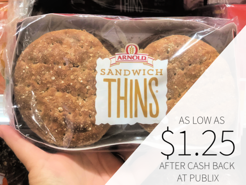 Arnold Sandwich Thins As Low As $1.25 At Publix on I Heart Publix 1