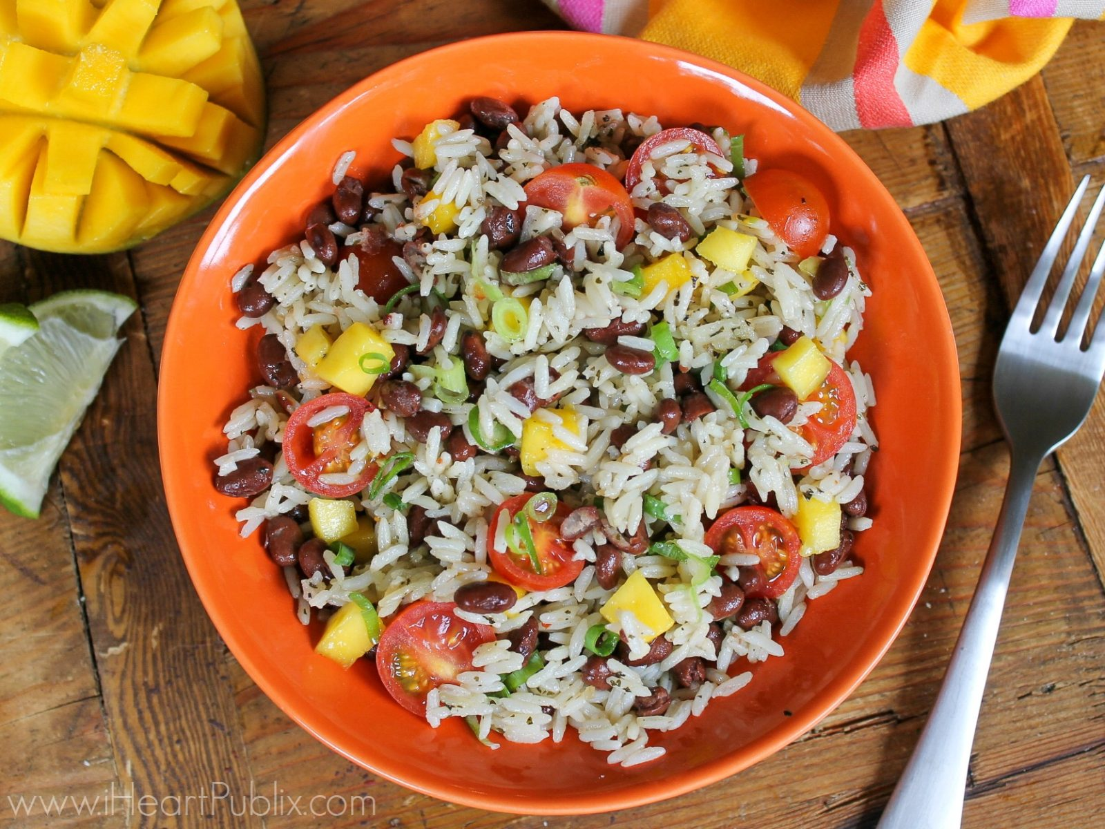 Black Beans and Rice Mango Salad on I Heart Publix