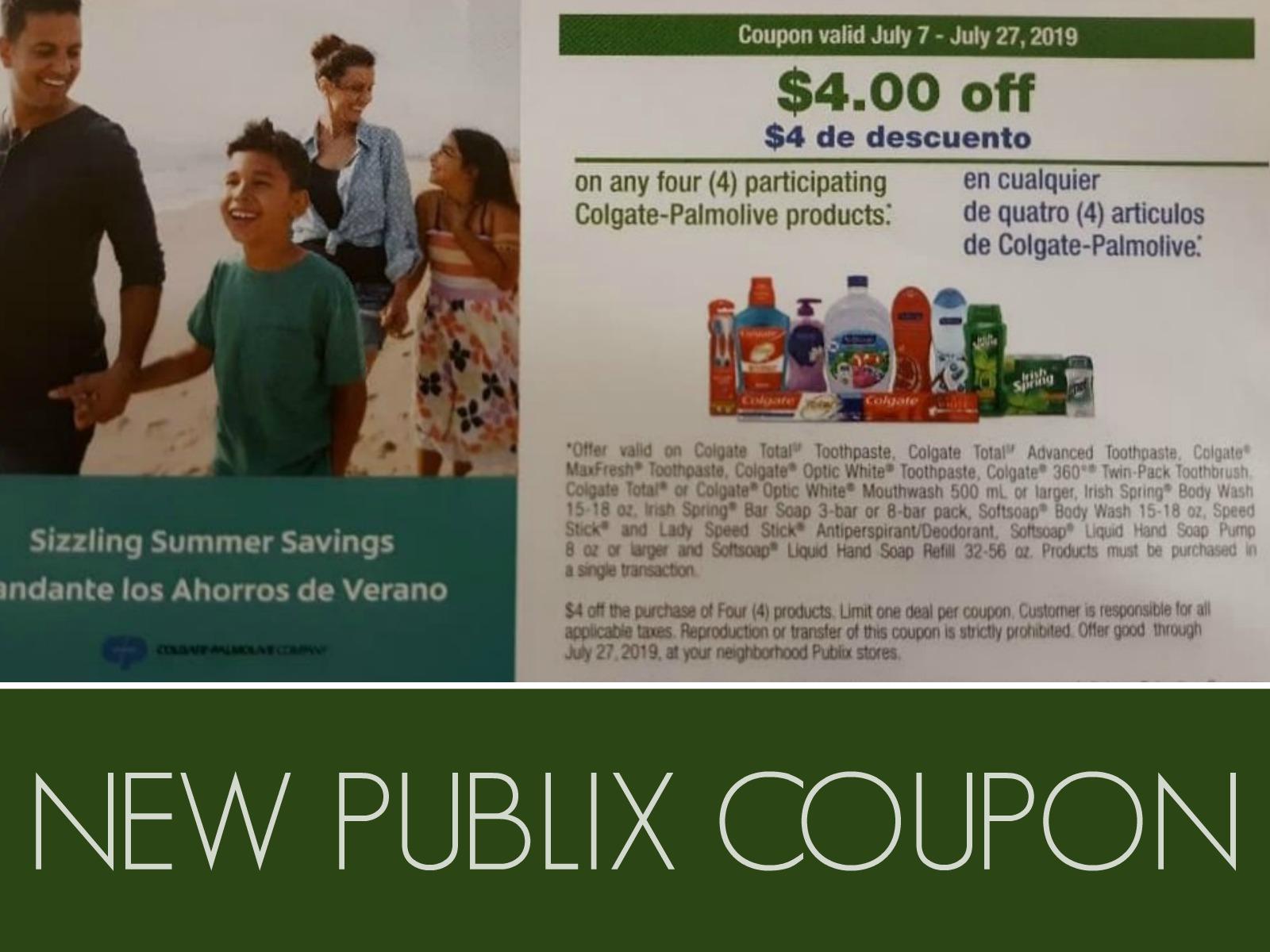 New Colgate-Palmolive Publix Coupon Valid Through 7/27 on I Heart Publix