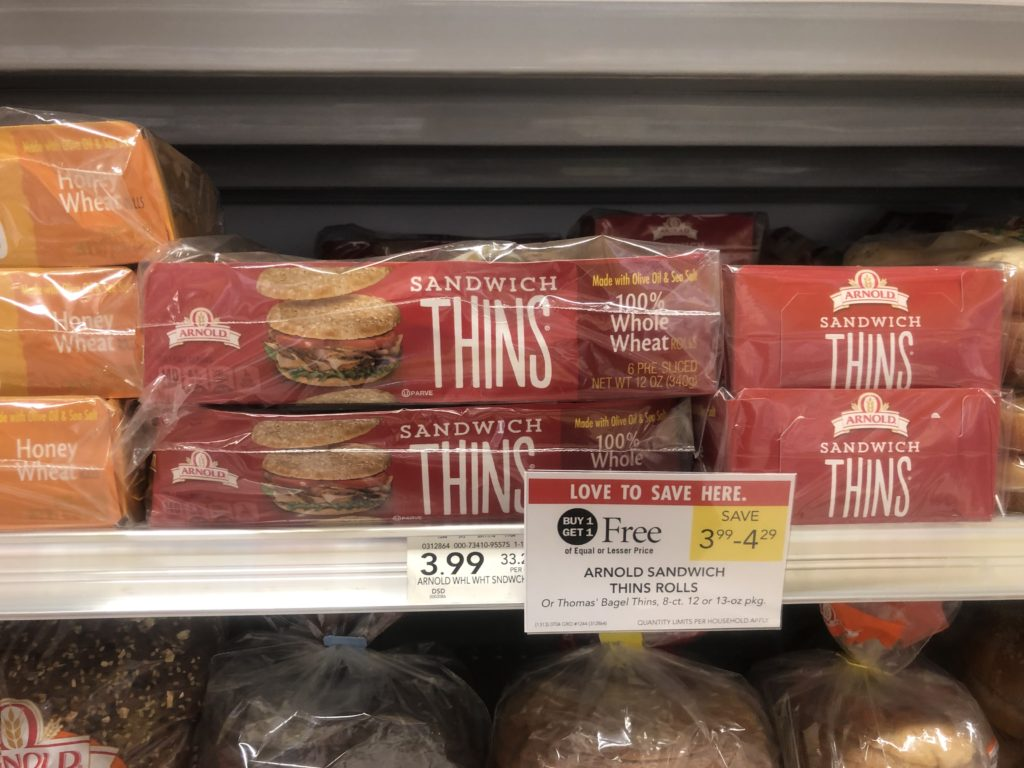 Arnold Sandwich Thins As Low As $1.25 At Publix on I Heart Publix