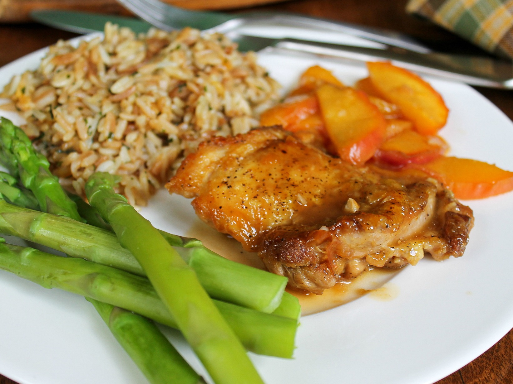 Sticky Peach Chicken on I Heart Publix 1