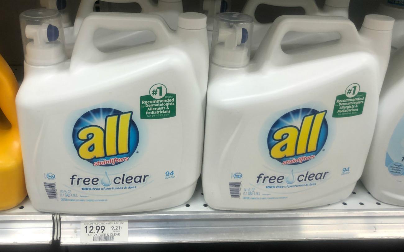 All Laundry Detergent - BIG Bottles Just $6.99 At Publix on I Heart Publix
