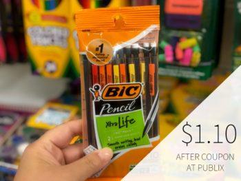 New BIC Mechanical Pencils Coupon - 10pk Just $1.10 At Publix on I Heart Publix 1