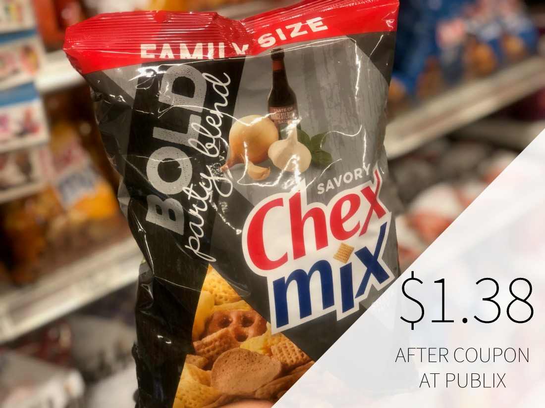 Family Size Chex Mix Snacks Only $1.38 Per Bag At Publix on I Heart Publix
