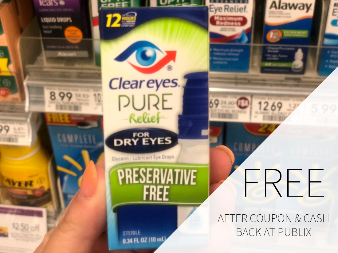 Clear Eyes Pure Relief FREE At Publix on I Heart Publix