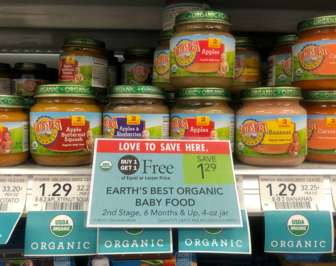 Earth's Best Organic Baby Food Only 32¢ At Publix on I Heart Publix