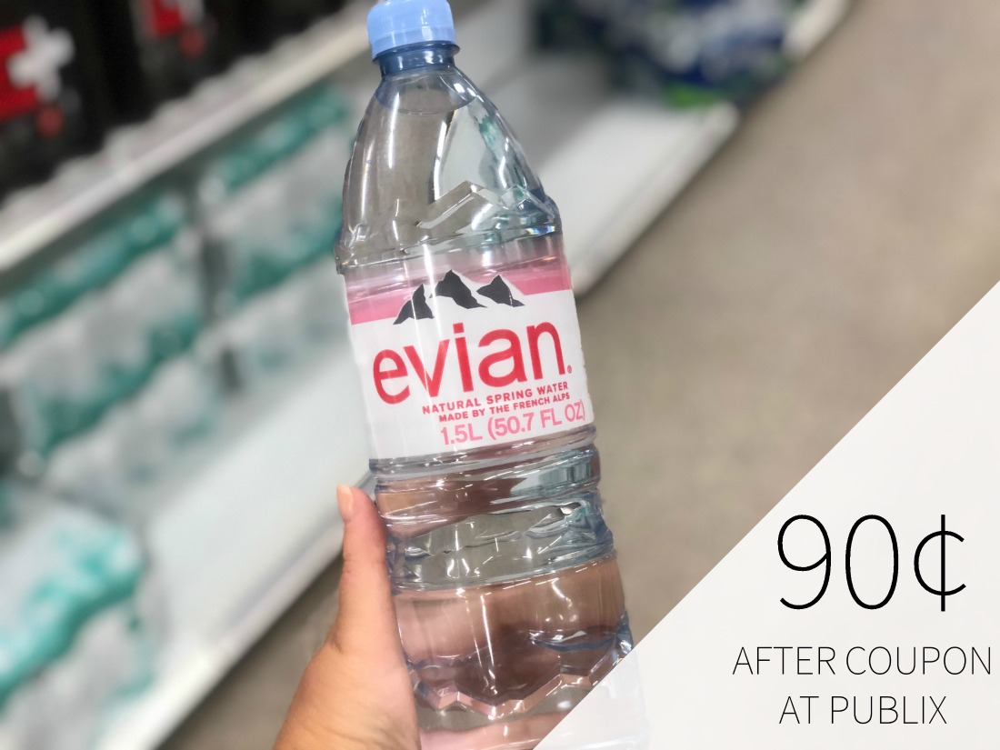 Evian Natural Spring Water Just 90¢ Per Bottle on I Heart Publix
