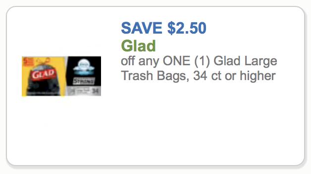 High Value Glad Trash Bag Coupon To Print - Save $2.50 on I Heart Publix 1