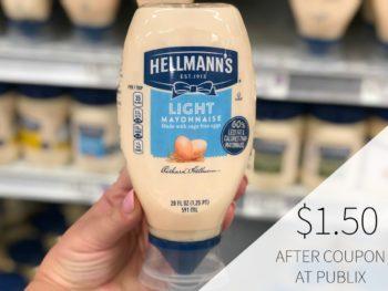 Hellmann's Mayonnaise Only $1.50 At Publix on I Heart Publix