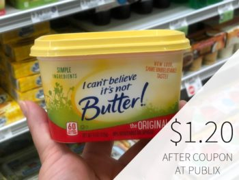 I Can't Believe It's Not Butter! Just $1.20 At Publix on I Heart Publix 1