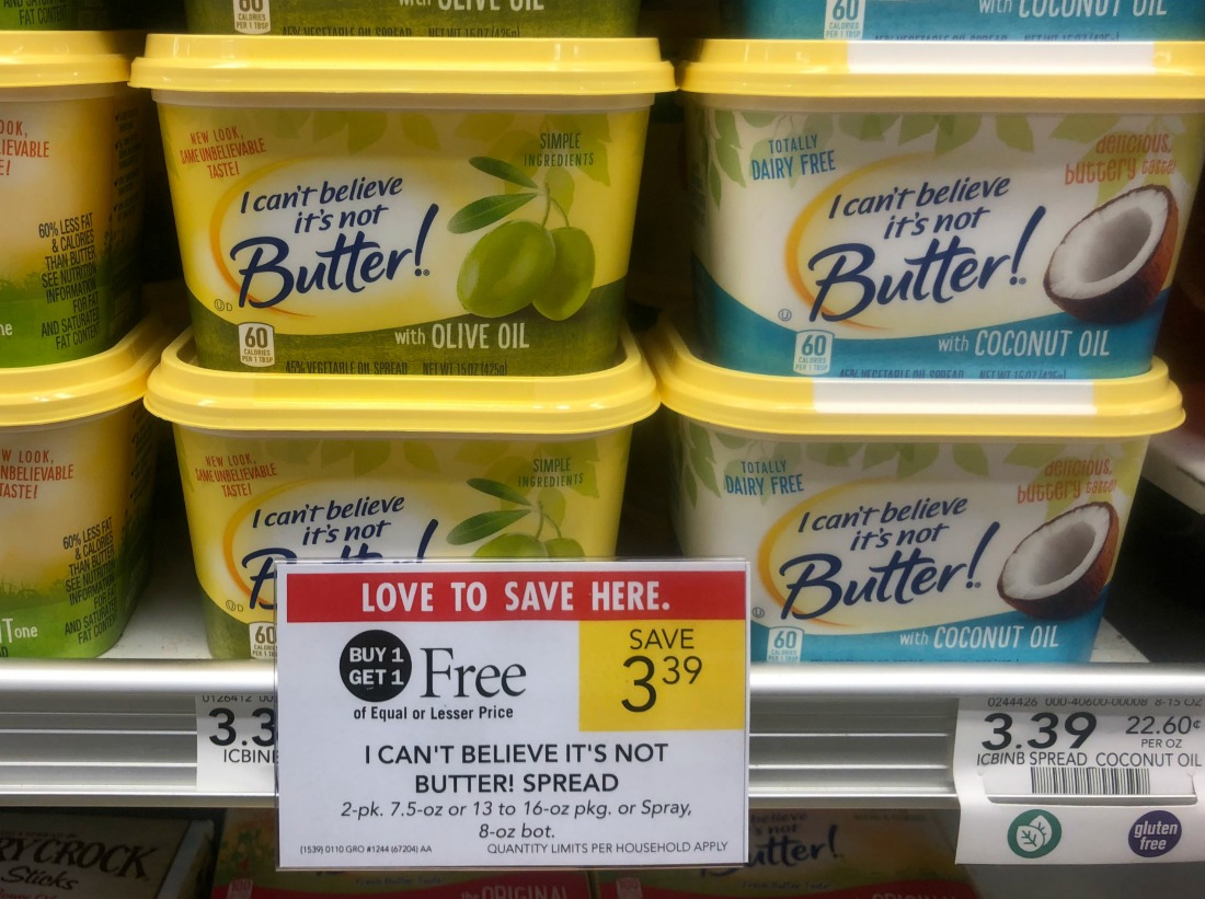 I Can't Believe It's Not Butter! Just $1.20 At Publix on I Heart Publix